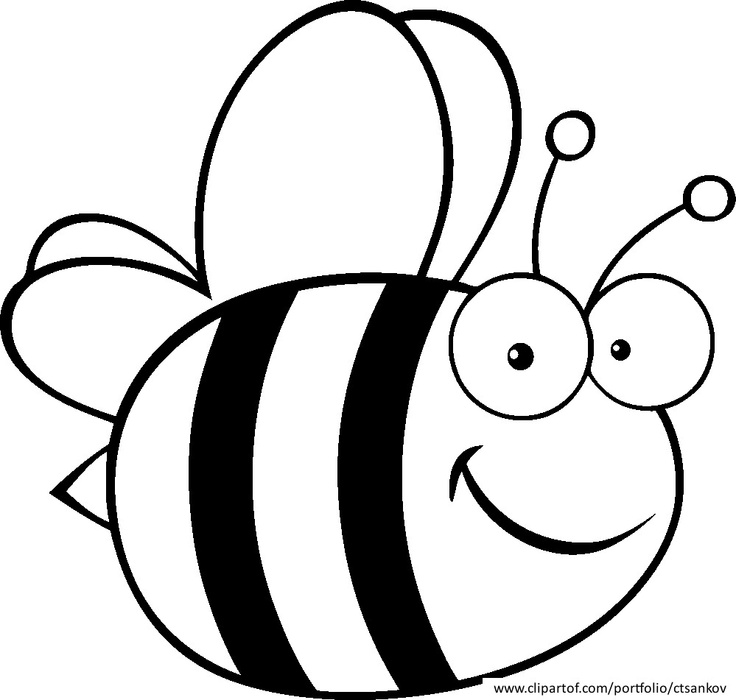Free Bee Clipart Black And White