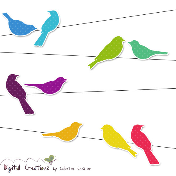 600x600 Bird Clipart Wire