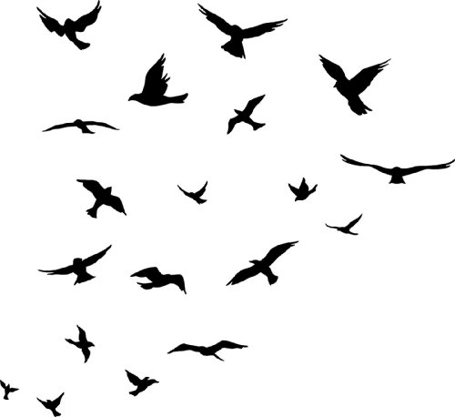 500x458 Flock Of Birds Clipart Free Bird