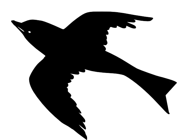600x472 Flying Bird Silhouette Clipart