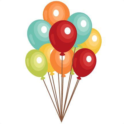 432x432 Birthday Balloons Clipart