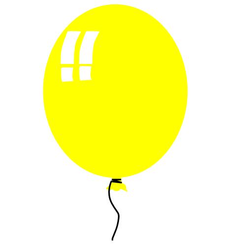 500x500 Free Birthday Balloon Clipart