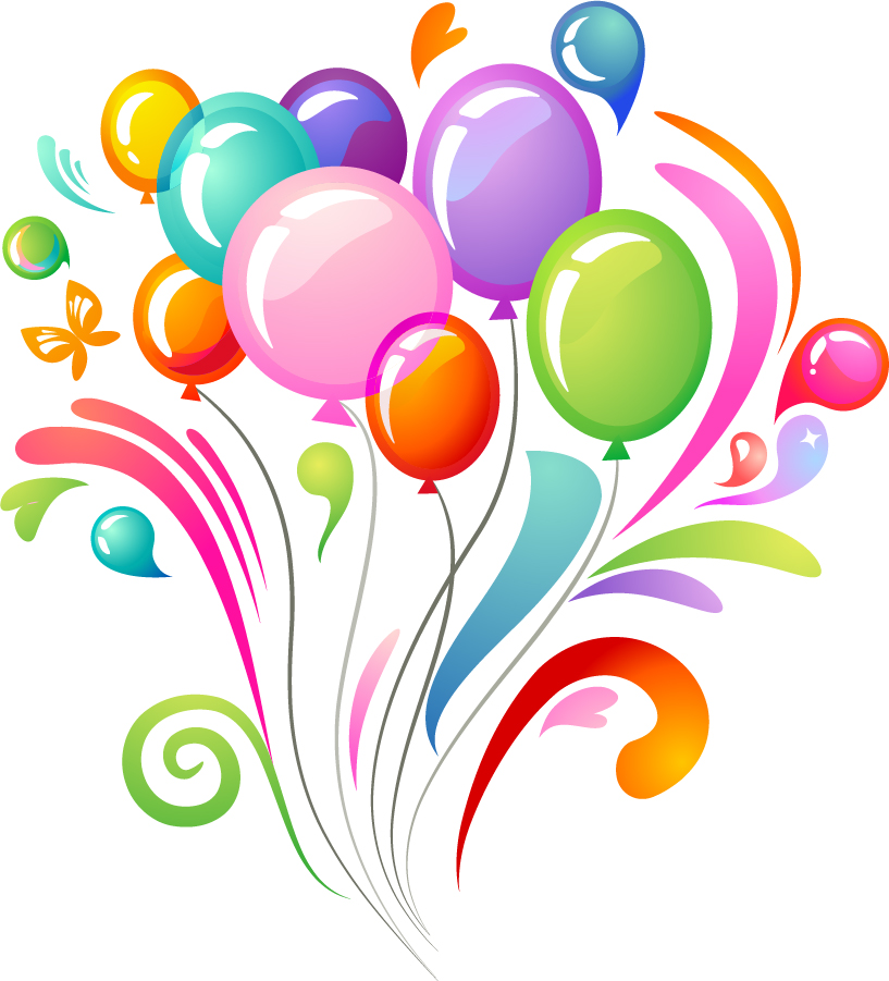 817x901 Free Birthday Balloon Clipart