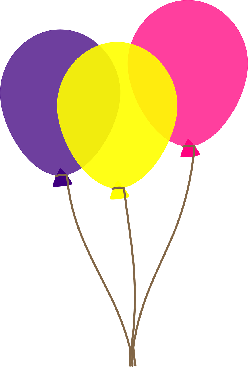864x1280 Free Birthday Balloons Clip Art Pictures 2