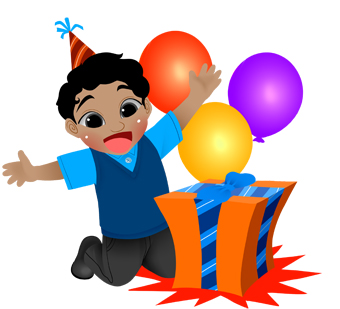 340x309 Gifts Balloons Clipart