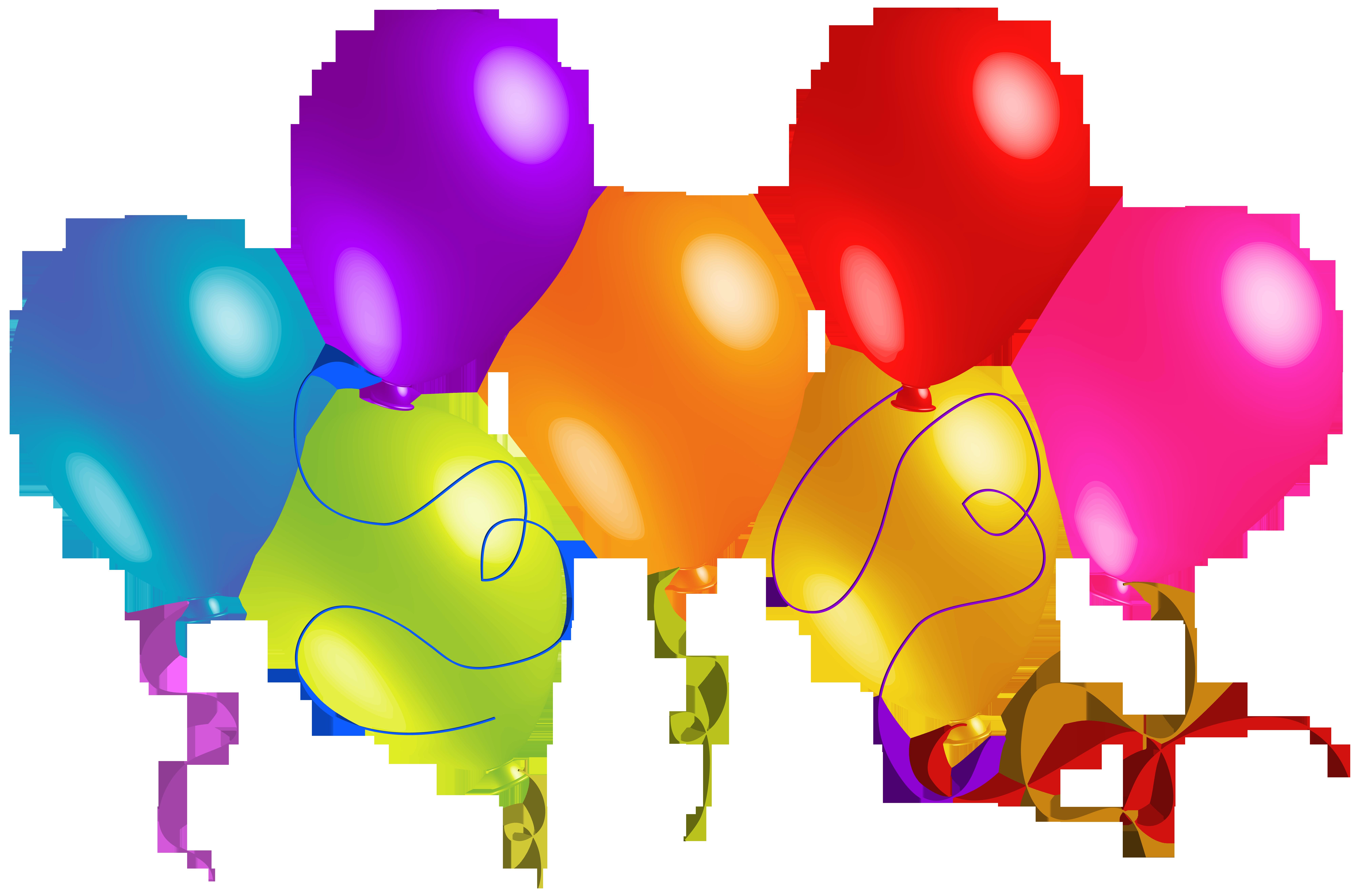 8000x5286 Balloons Clip Art Free