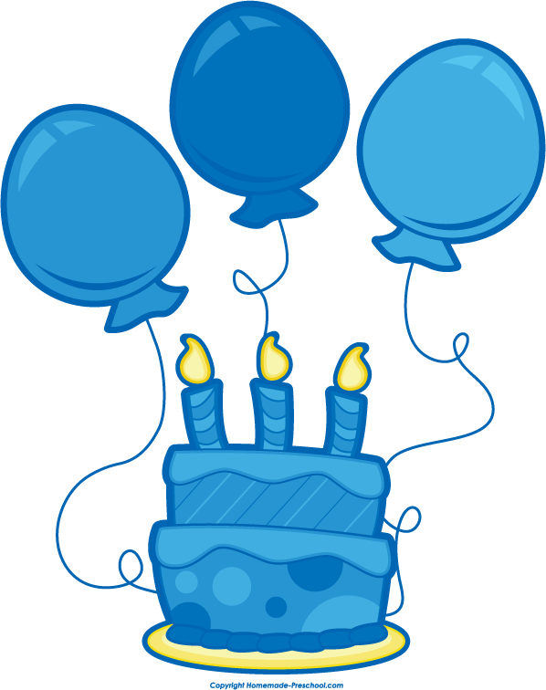 598x756 Cake Clipart Birthday Balloon