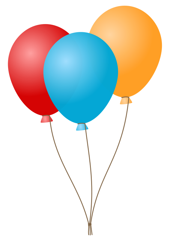 567x800 Free Birthday Balloon Clipart