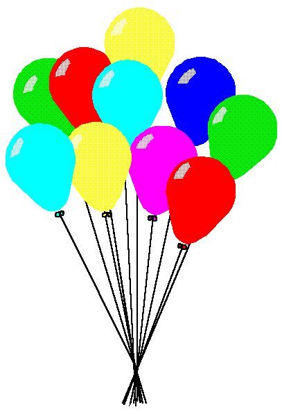 407x598 Free Birthday Balloons Clipart Image