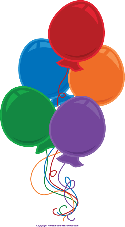 432x783 Free Birthday Balloons Clipart