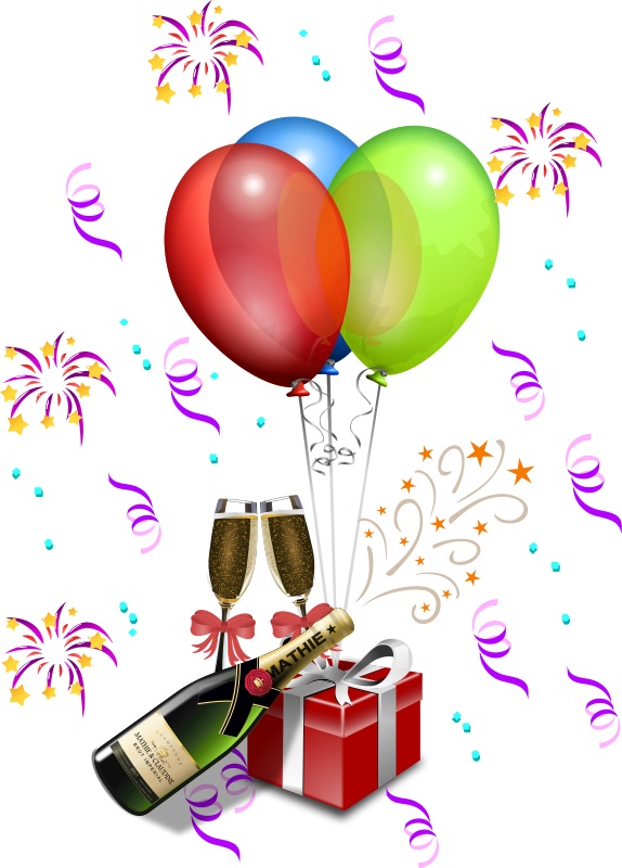 574x800 Gifts Balloons Clipart