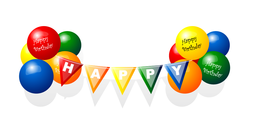 1009x534 Happy Birthday Balloon Vector Free Vector 4vector