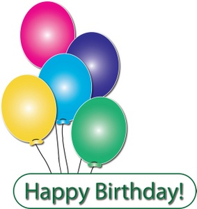 283x300 Birthday Balloons Birthday Clipart Image Happy Balloons Clipart