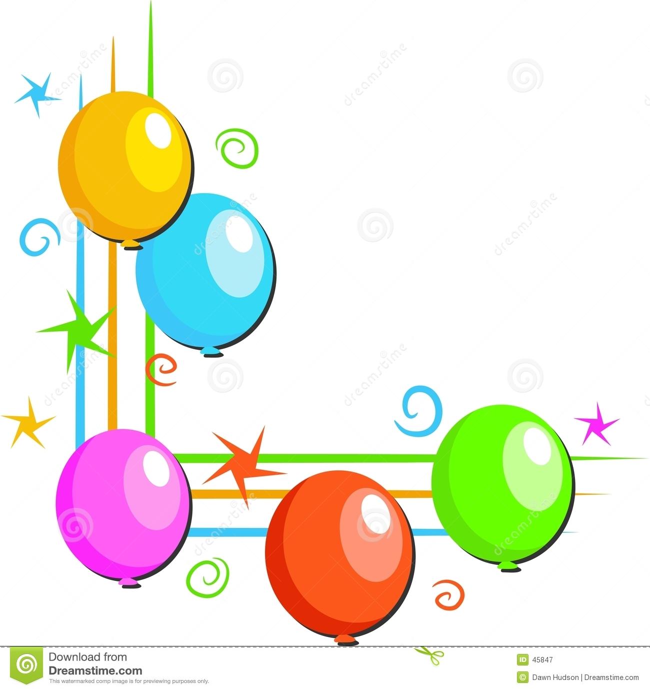 1300x1381 Birthday Balloon Border Clipart