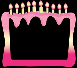300x266 Birthday Borders Cake Clipart