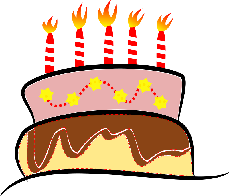 800x683 Free Birthday Cake Clipart
