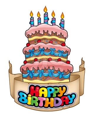 316x400 Happy Birthday Cake Clipart