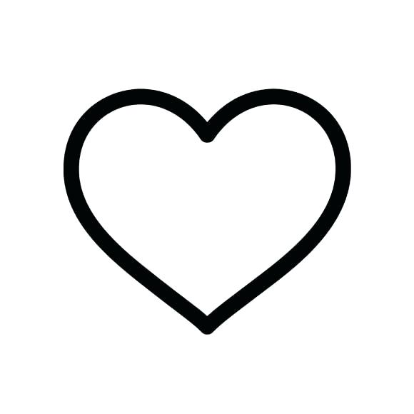 580x580 Clipart Heart Heart Black And White Heart Black And White Hearts