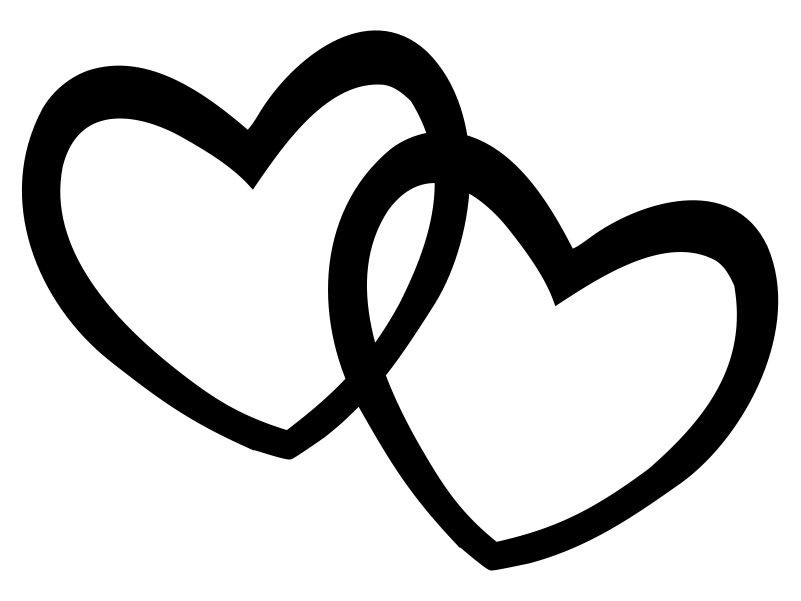 801x601 Cute Hearts Clipart Black And White