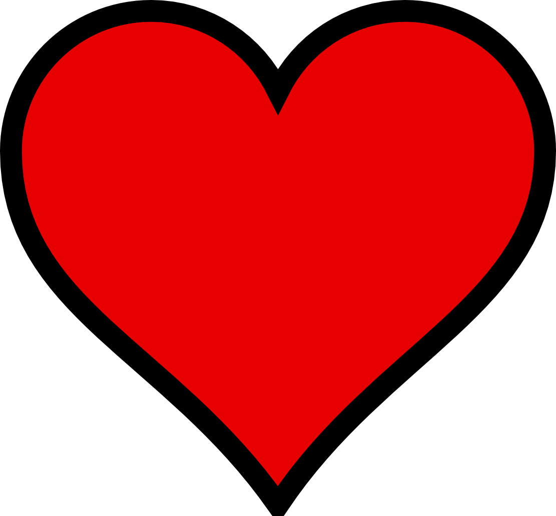 1111x1032 Best Black And White Heart Clipart