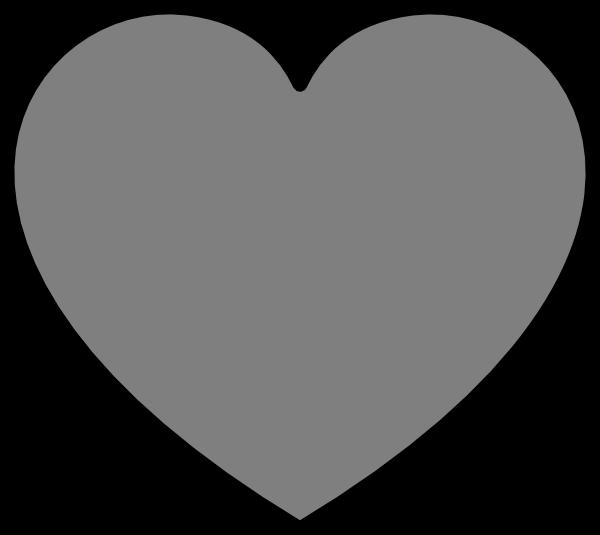 600x535 Gray Heart Cliparts 217413