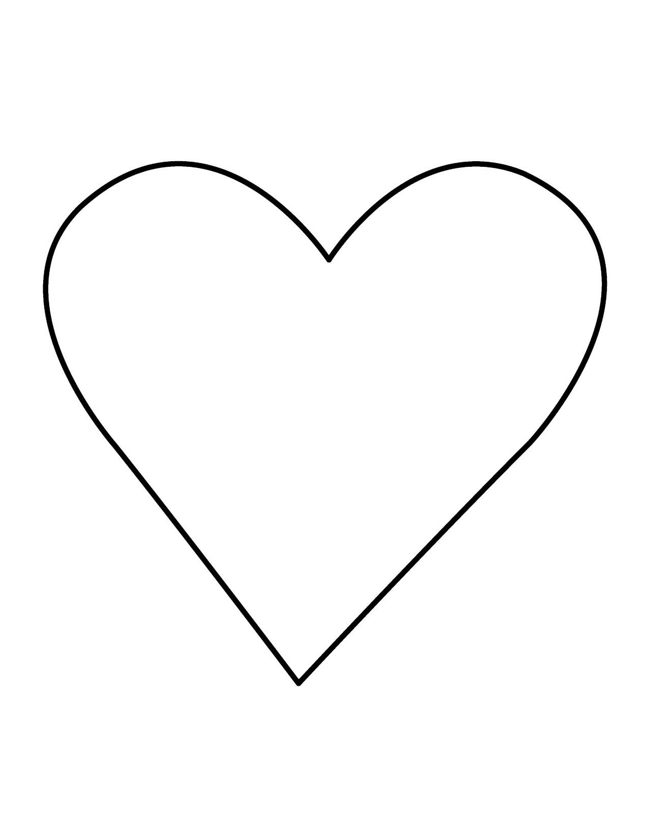 1275x1650 Hd Clip Art Heart Outline Free Clipart Images Pictures