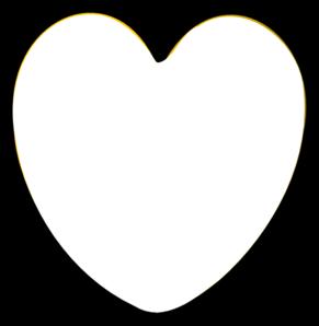 291x298 Heart Black And White Clip Art