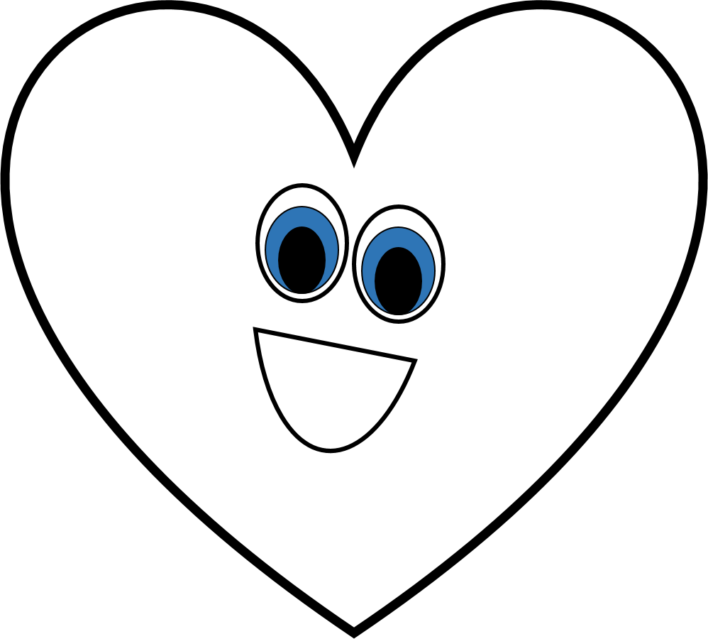 998x900 Heart Black And White Black And White Heart Shape Clipart