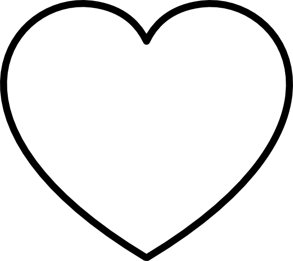600x535 Best Photos Of Black And White Heart Clip Art