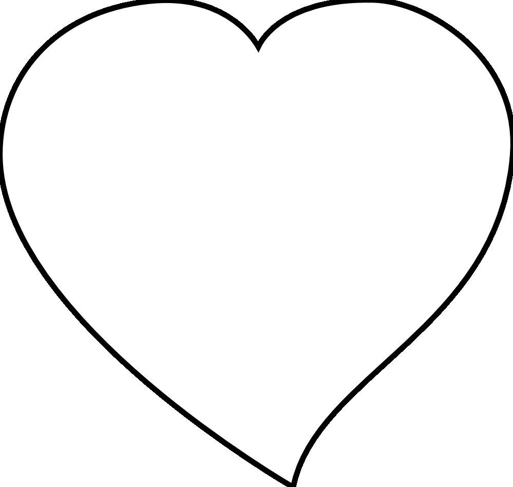 999x948 White Heart Clipart