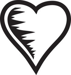 236x249 Clip Art Black And White Scrolled Heart Clipart Image