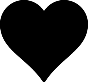 300x279 Black Heart Clip Art