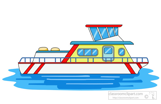 550x356 Fishing Boat Clipart Houseboat