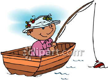 350x259 Free Clipart Of Fish In Boat