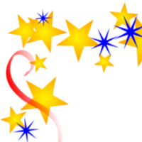200x200 Free Borders And Clip Art Downloadable Free Stars Borders