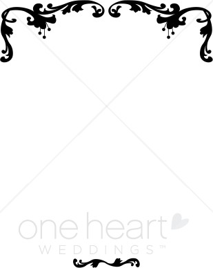 309x388 Free Wedding Clipart Borders