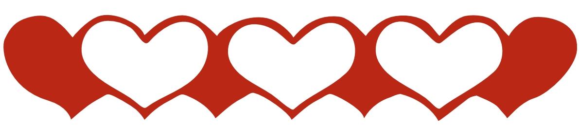 1191x261 Hearts Border Clip Art