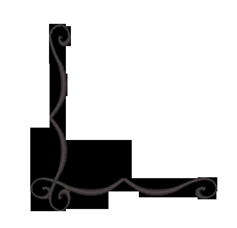 1324x1272 Swirl Border Clip Art
