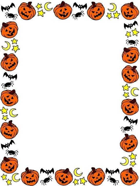 545x720 Top 10 Free Halloween Clip Art Borders Frames