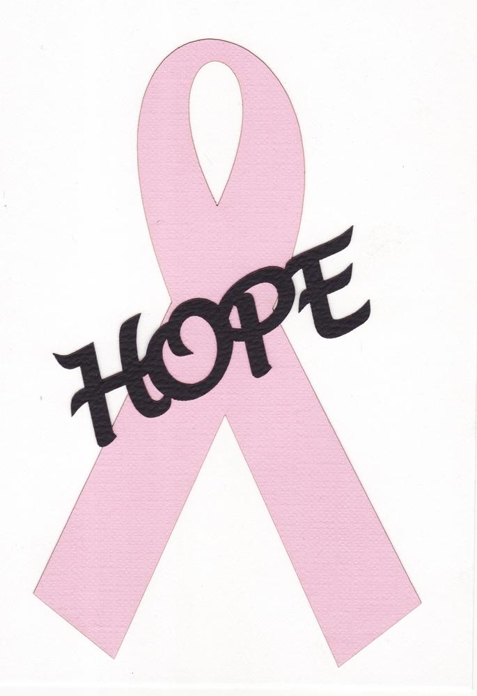 685x1000 Breast Cancer Ribbon Stencil Clipart