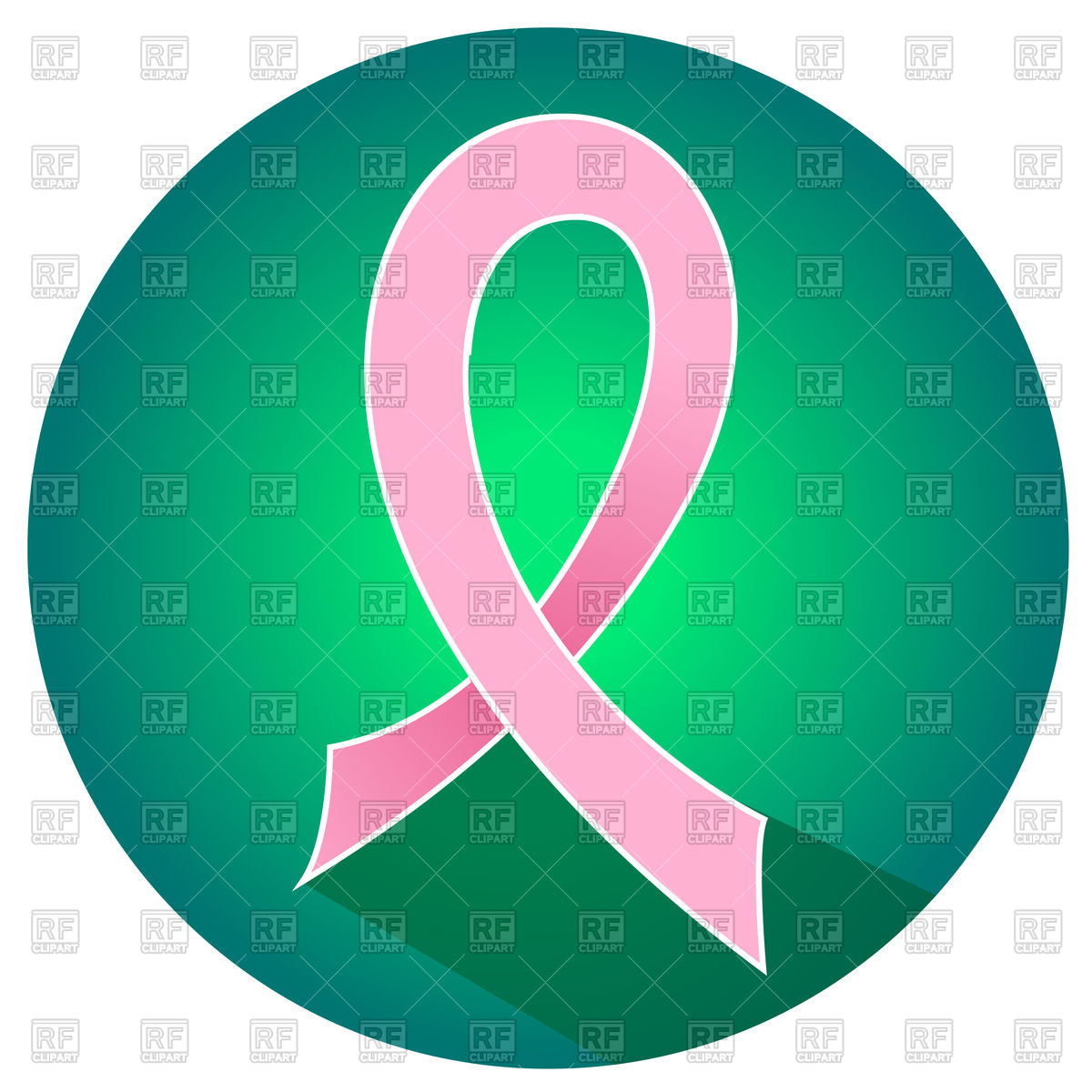 1200x1200 Breast Cancer Awareness Pink Ribbon Icon Royalty Free Vector Clip