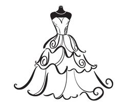 236x212 Dress Clipart Bridal Shower