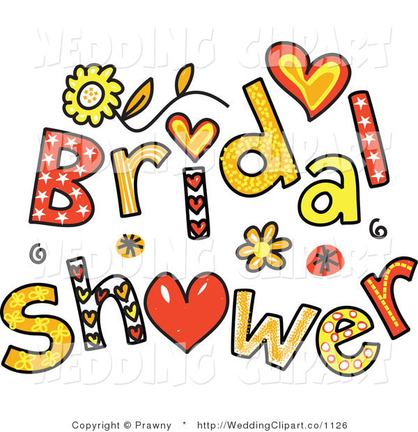600x620 Vector Marriage Clipart Of Bridal Shower Text By Prawny