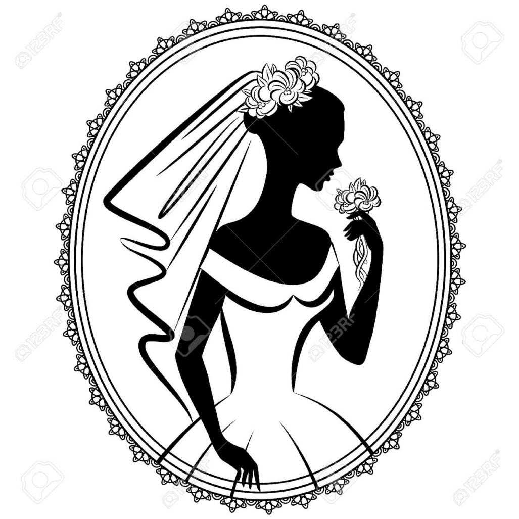 1027x1027 Bridal Gown Bridal Shower Silhouette Clip Art Bridal Gowns