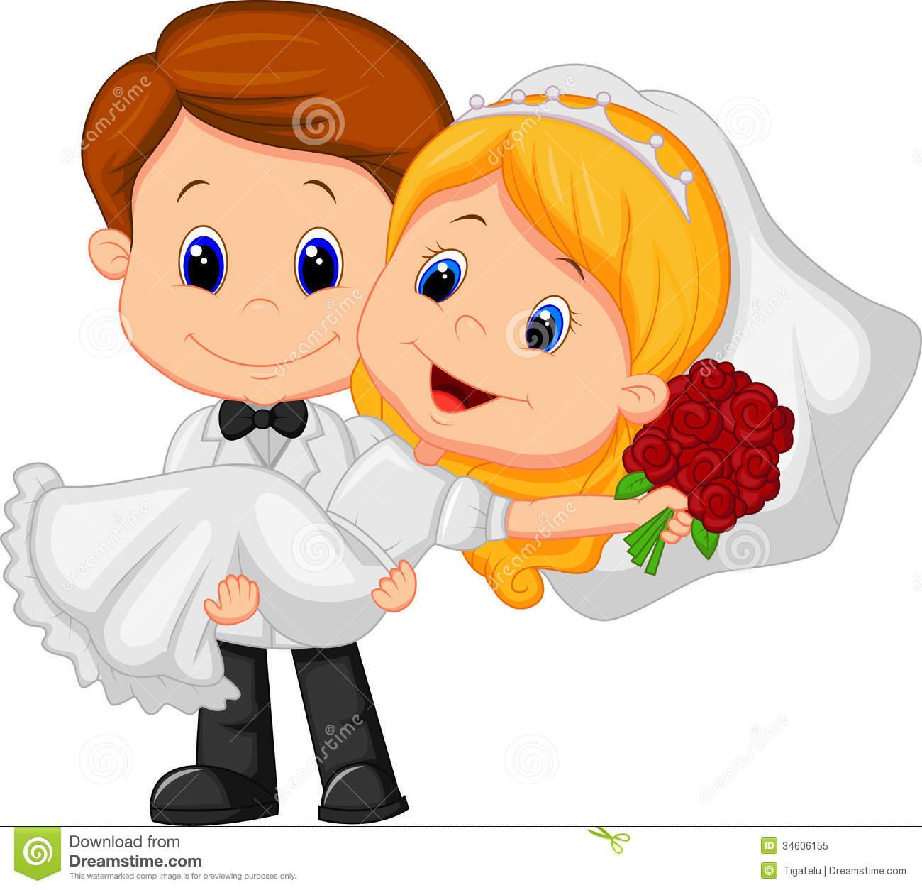 1300x1254 Free Cartoon Bride And Groom Clipart