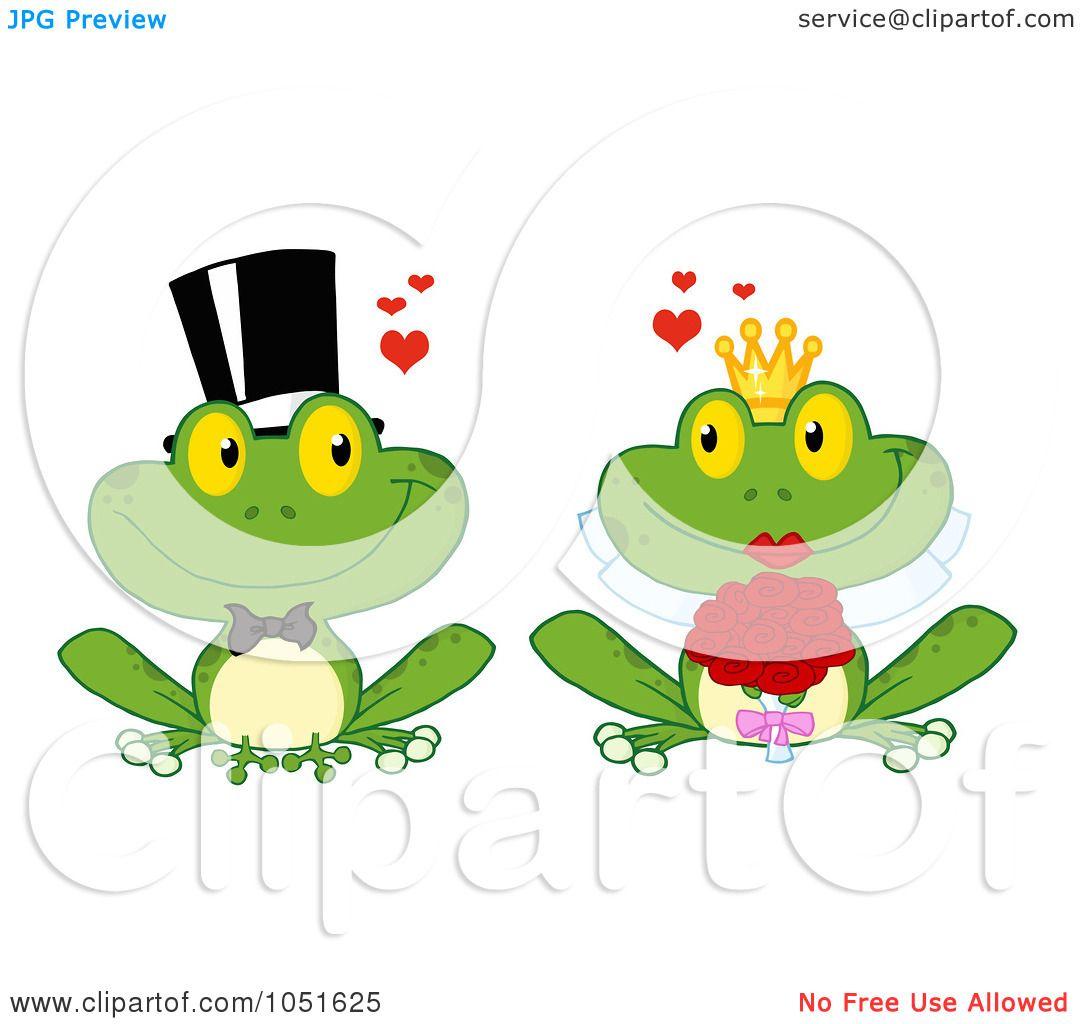 1080x1024 Royalty Free Vector Clip Art Illustration Of A Frog Bride