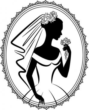 297x368 Wedding Groom Bride Silhouettes Free Vector Download (6,792 Free