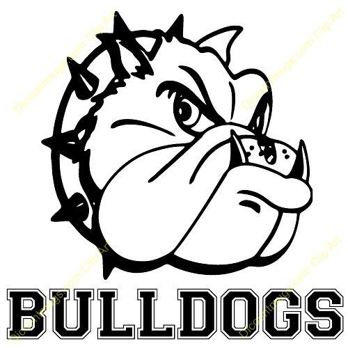500x500 English Bulldog Clipart Bulldog Mascot