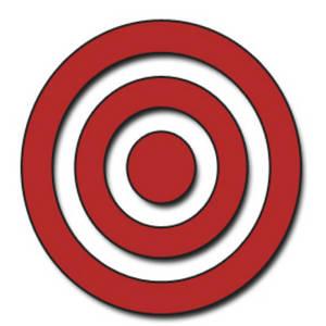 300x300 Clipart Target Bullseye