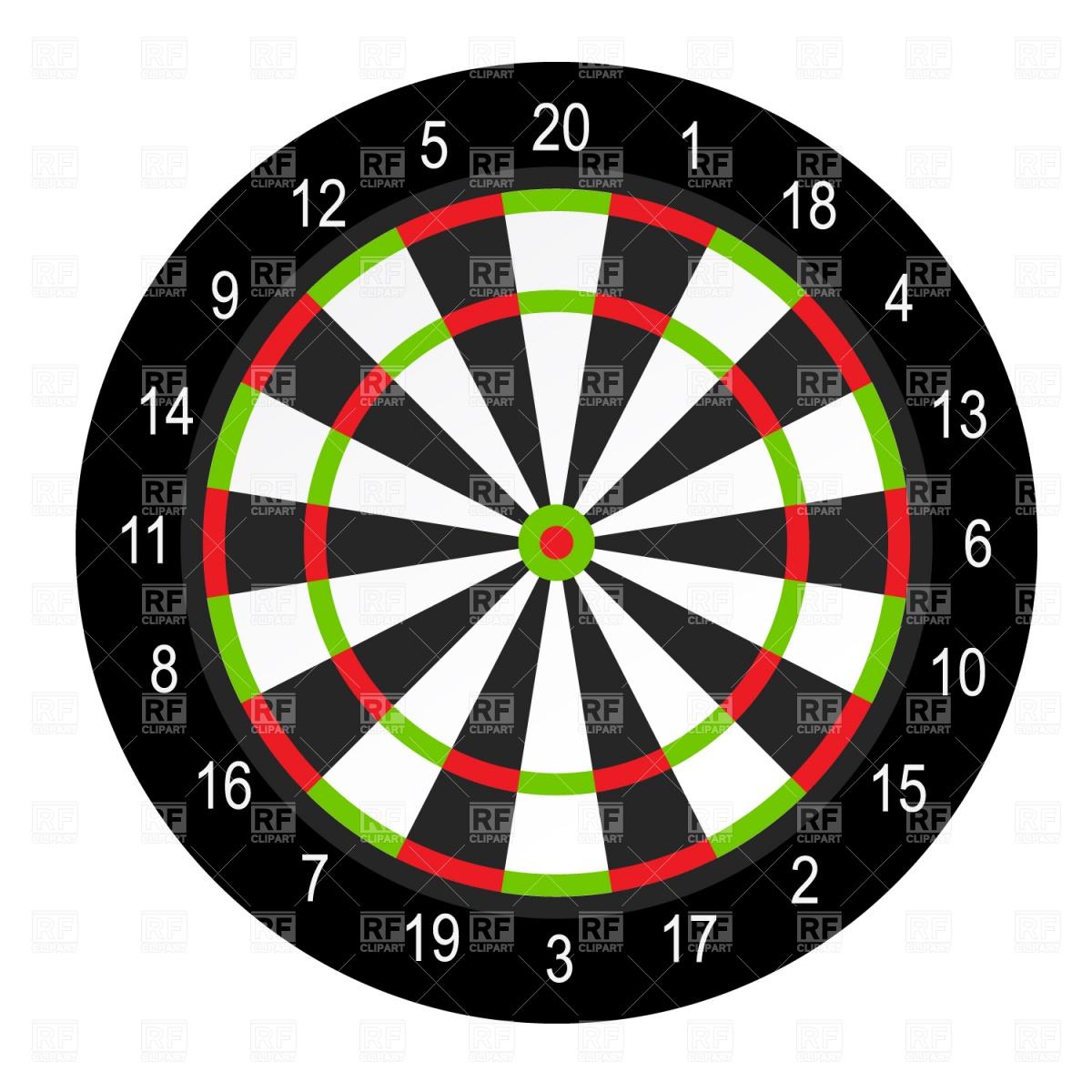 1200x1200 Dart Board Royalty Free Vector Clip Art Image